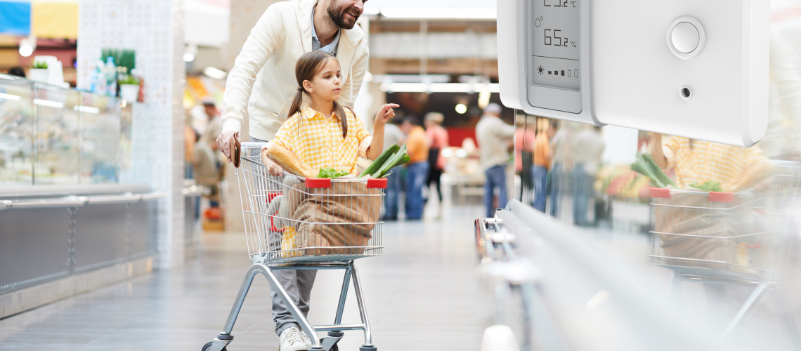 Supermarket image with monitor